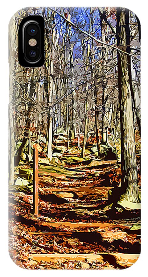 Catoctin Mountain Park IPhone X Case featuring the digital art Catoctin Trail by Stephen Younts