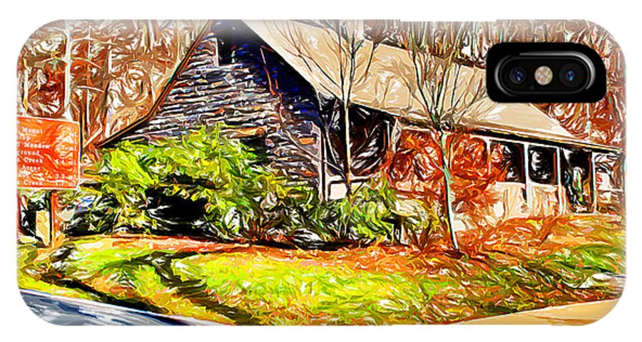 Catoctin Mountain Park IPhone X Case featuring the digital art Catoctin Visitor Center by Stephen Younts