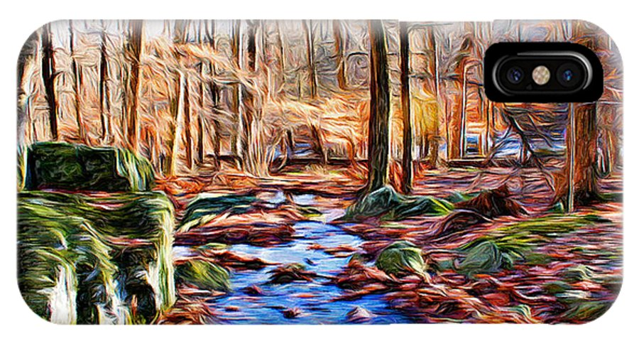 Catoctin Mountain Park IPhone X Case featuring the digital art Catoctin Woods by Stephen Younts