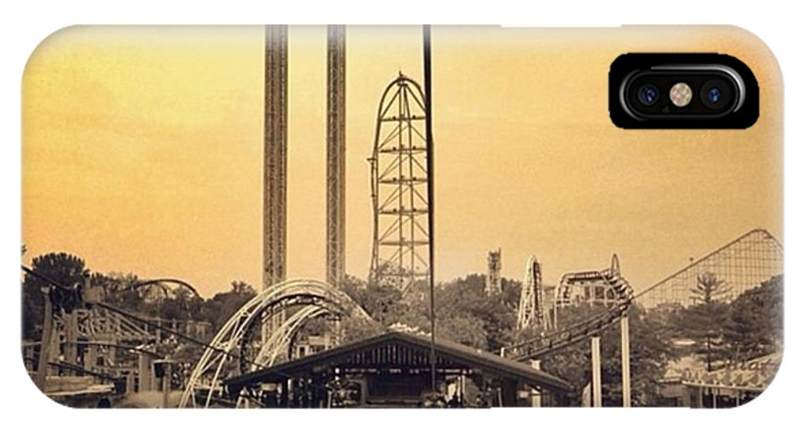 Cedarpoint IPhone X Case featuring the photograph #cedarpoint #ohio #ohiogram #amazing by Pete Michaud