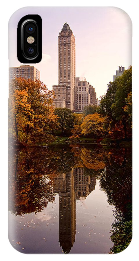Central Park IPhone X Case featuring the photograph Central Park by Michael Dorn