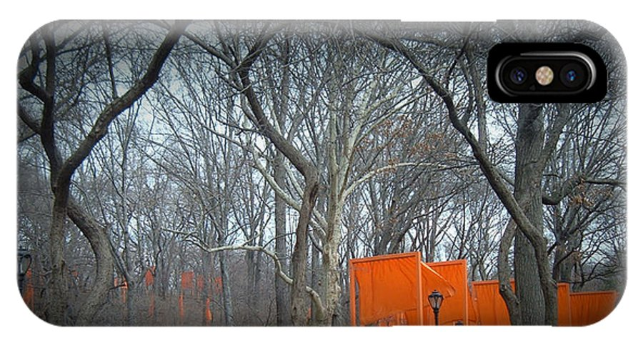 New York IPhone X Case featuring the photograph Central Park by Naxart Studio