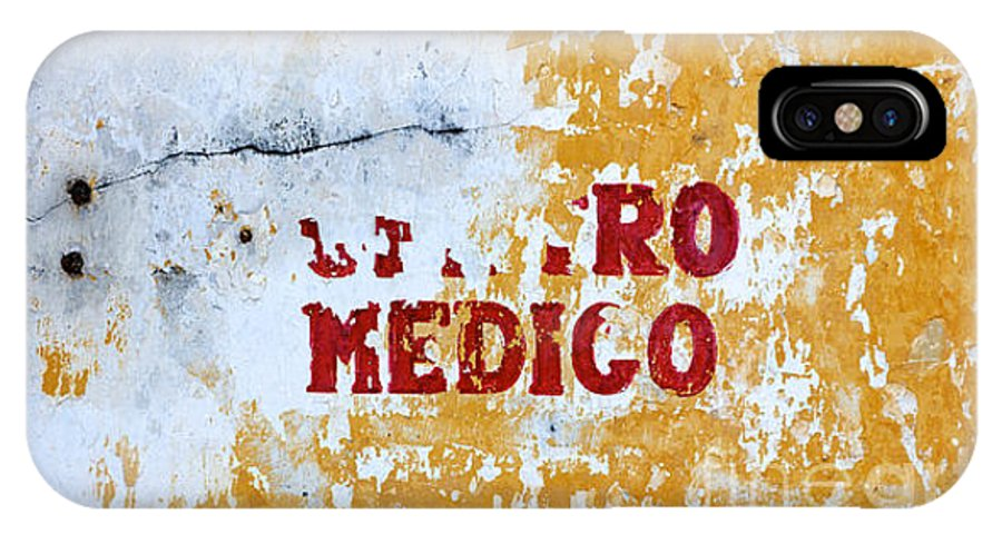 Care IPhone X / XS Case featuring the photograph Centro Medico Sign by Jannis Werner