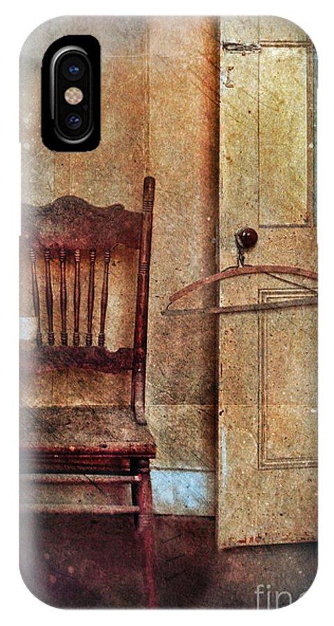 Door IPhone X Case featuring the photograph Chair By Open Door by Jill Battaglia