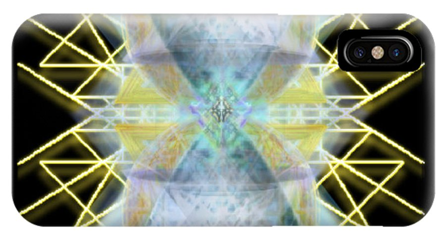 Chalices IPhone X Case featuring the digital art Chalices from Pi Sphere GoldenRay II by Chris Pringer