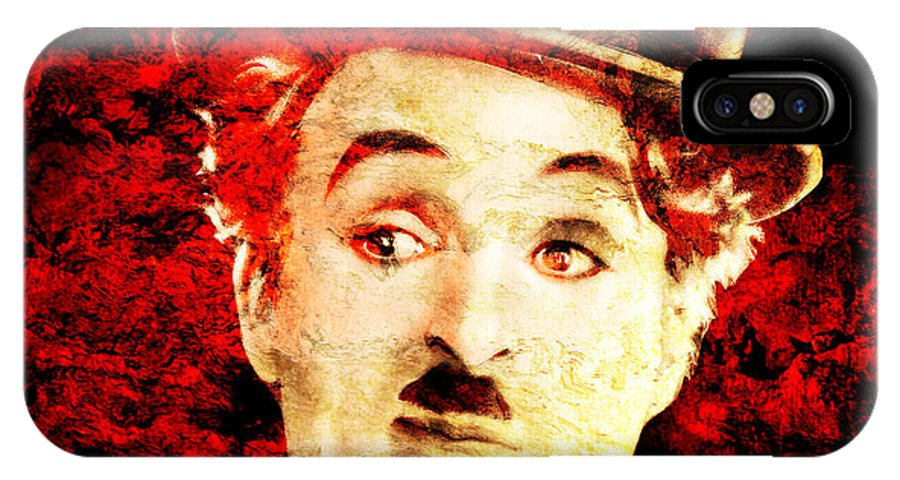 Charles Chaplin IPhone X Case featuring the photograph Charles Chaplin by J - O  N  E
