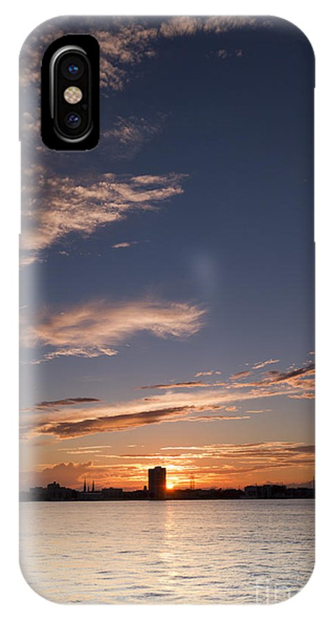 Sunset On The Charleston Harbor IPhone X Case featuring the photograph Charleston Harbor Sunset by Dustin K Ryan