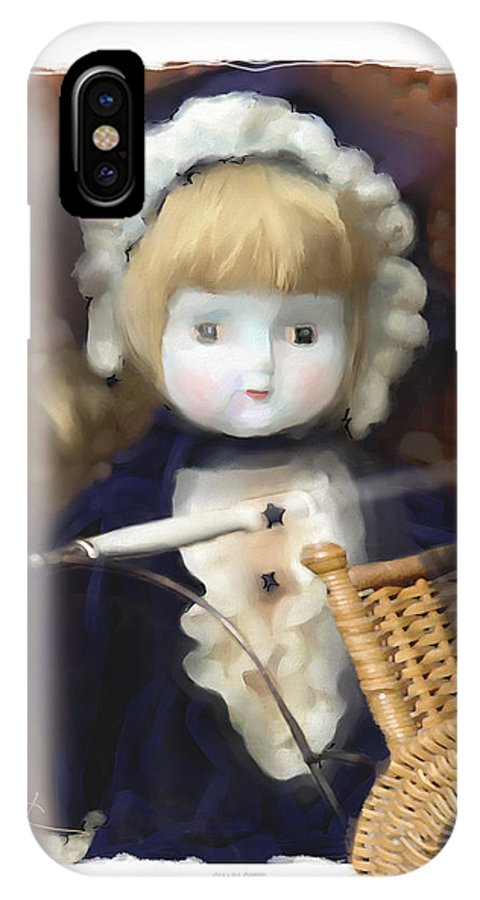 Baby Doll IPhone X Case featuring the painting Charlotte by Bob Salo