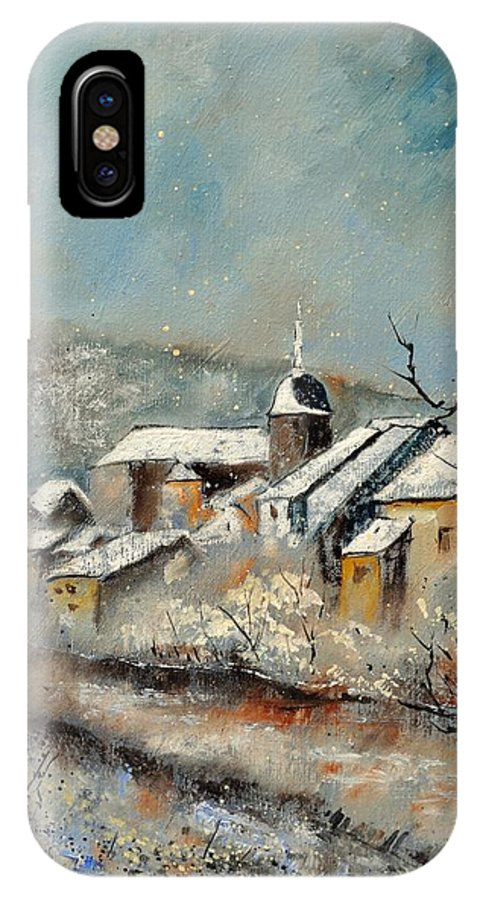 Landscape IPhone X Case featuring the painting Chassepierre by Pol Ledent