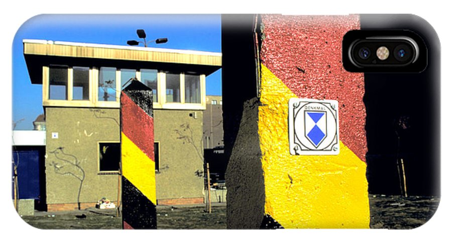 Gate IPhone X Case featuring the photograph Check Point Charlie by Carl Purcell