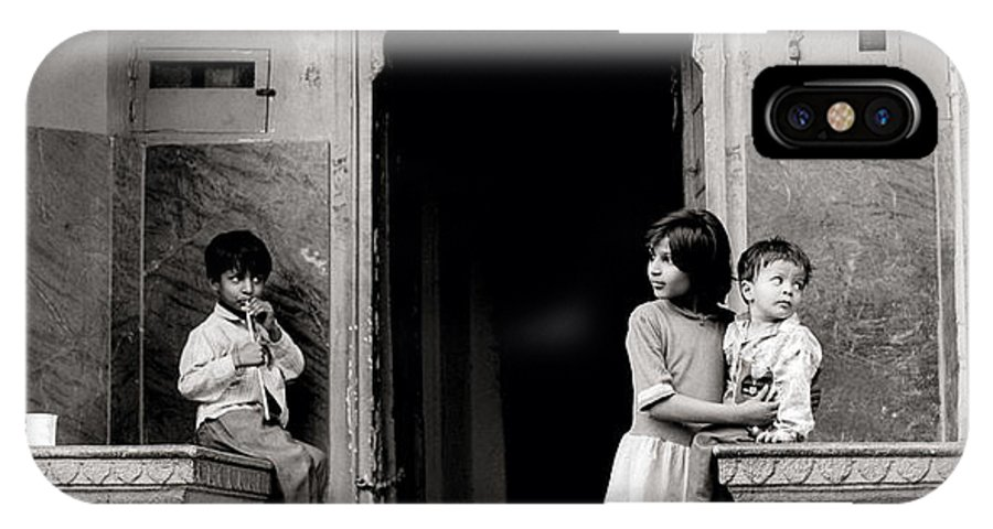 India IPhone X Case featuring the photograph Childhood In Jaipur by Shaun Higson