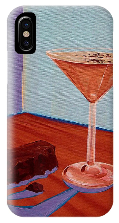 Painting IPhone X Case featuring the painting Choco-tini by Michael Baum