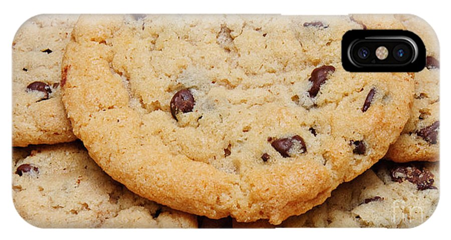 Andee Design Chocolate Chip Cookie IPhone X / XS Case featuring the photograph Chocolate Chip Cookies Pano by Andee Design