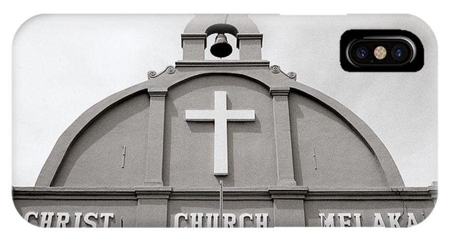 Asia IPhone X Case featuring the photograph Christ Church In Melaka In Malaysia by Shaun Higson