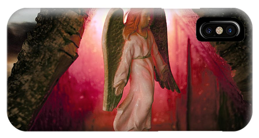 Angel IPhone X Case featuring the photograph Christmas Angel by David Arment