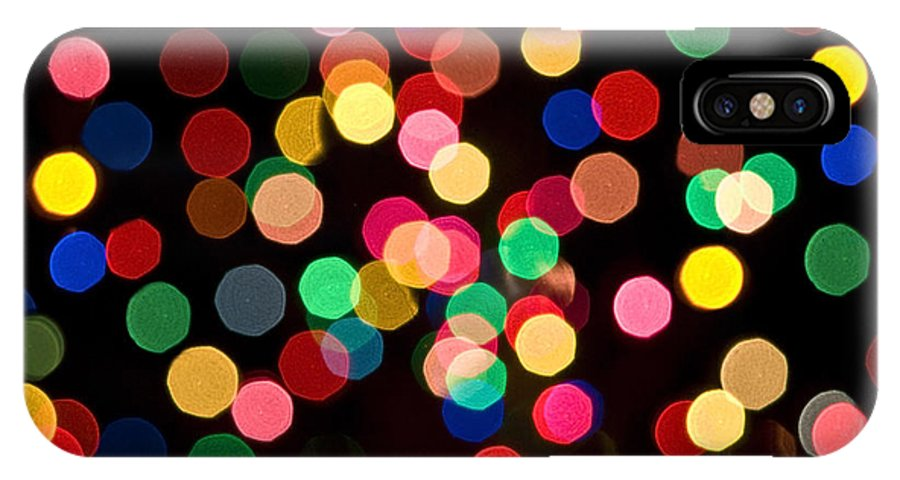 Xmas IPhone X Case featuring the photograph Christmas Lights by John Greim