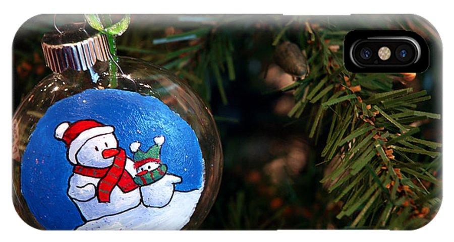 Usa IPhone X Case featuring the photograph Christmas Ornament by LeeAnn McLaneGoetz McLaneGoetzStudioLLCcom