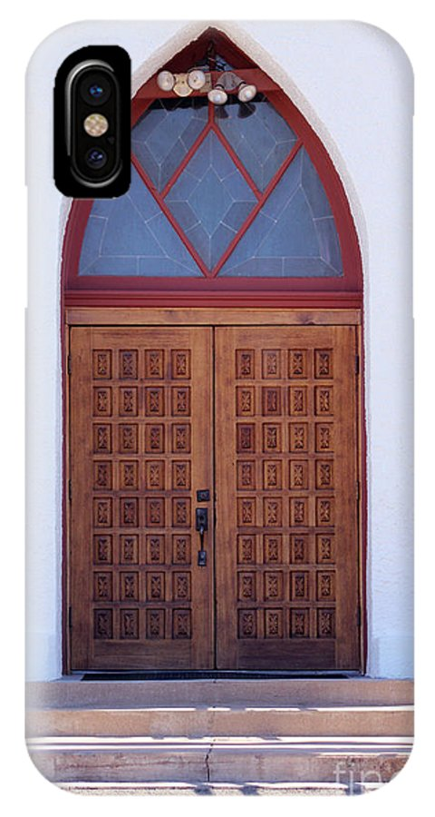 Christ IPhone X Case featuring the photograph Christ's Red Door by Alycia Christine