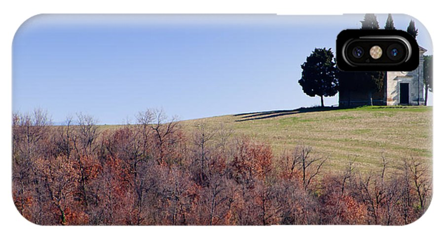 Church IPhone X Case featuring the photograph Church On A Hill by Mats Silvan