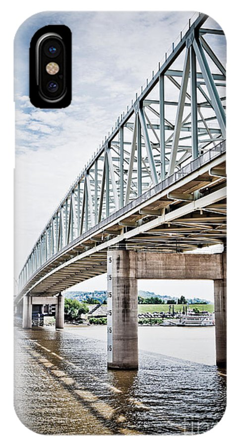 Bridge IPhone X Case featuring the photograph Cincinnati Taylor Southgate Bridge by Paul Velgos