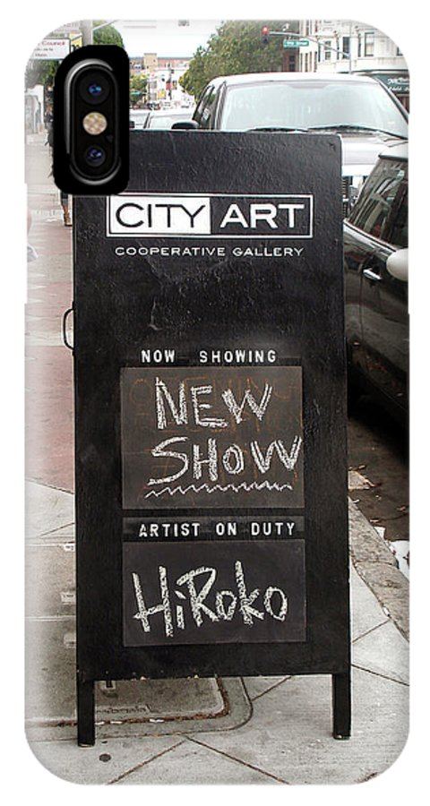 Gallery IPhone X Case featuring the photograph City Art Gallery Sign by Hiroko Sakai