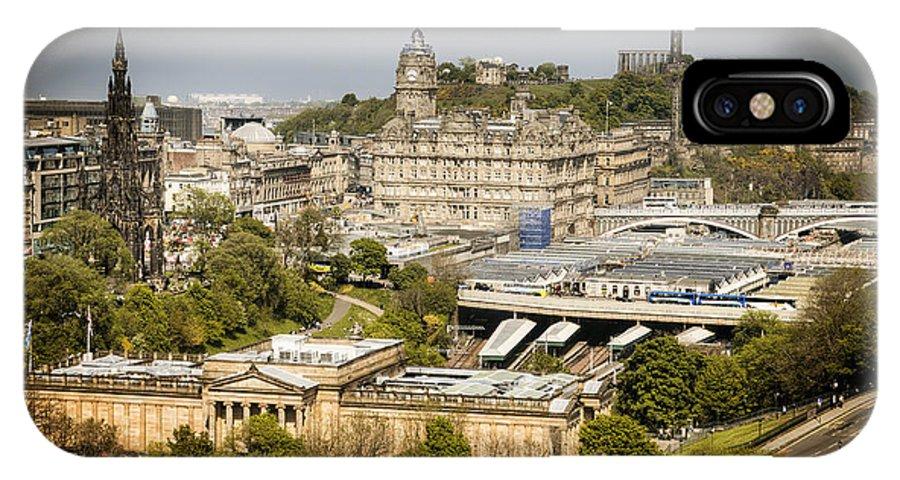 Edinburgh IPhone X Case featuring the photograph City Of Edinburgh by Ray Devlin