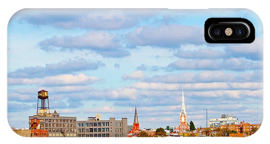 New York City View Water Tower IPhone X Case featuring the photograph City View Four by Alice Gipson