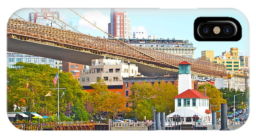 New York City Water View Bridge IPhone X Case featuring the photograph City View Three by Alice Gipson