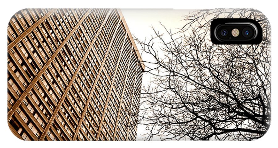 City IPhone X Case featuring the photograph City Vs Nature by Valentino Visentini