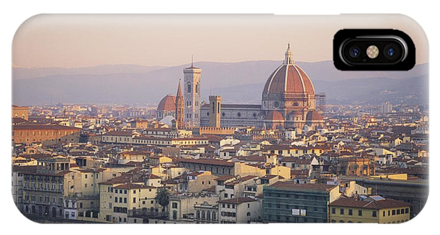 Europe IPhone X / XS Case featuring the photograph Cityscape, Florence, Italy by Michael S. Lewis