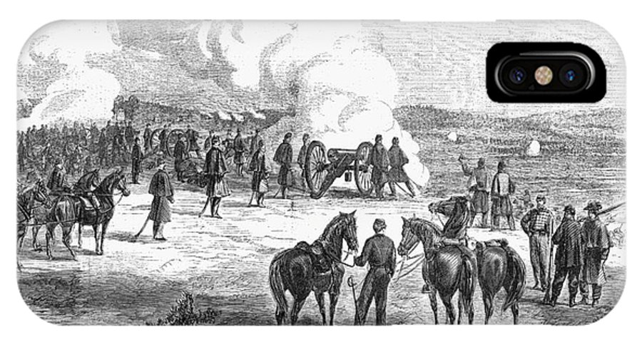 1862 IPhone X Case featuring the photograph Civil War: 7 Days Battles by Granger