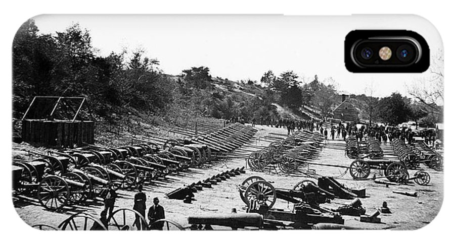 1864 IPhone X Case featuring the photograph Civil War: Artillery by Granger