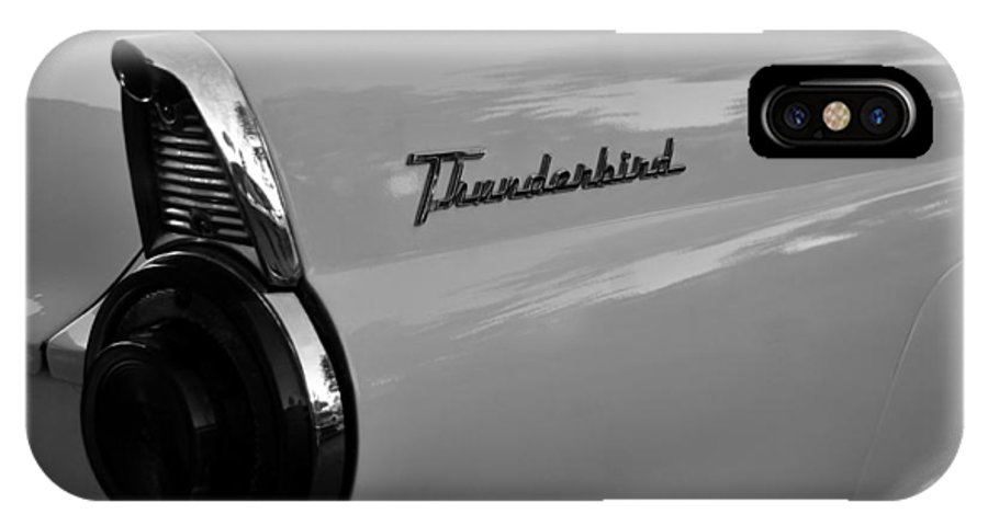 Fine Art Photography IPhone X Case featuring the photograph Classic 55 Thunderbird by David Lee Thompson