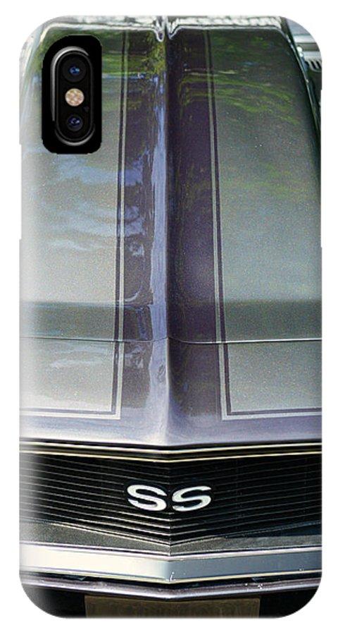 Classic Camaro Ss Hood Cowl IPhone X Case featuring the photograph Classic Camaro Ss Hood Cowl by Paul Ward