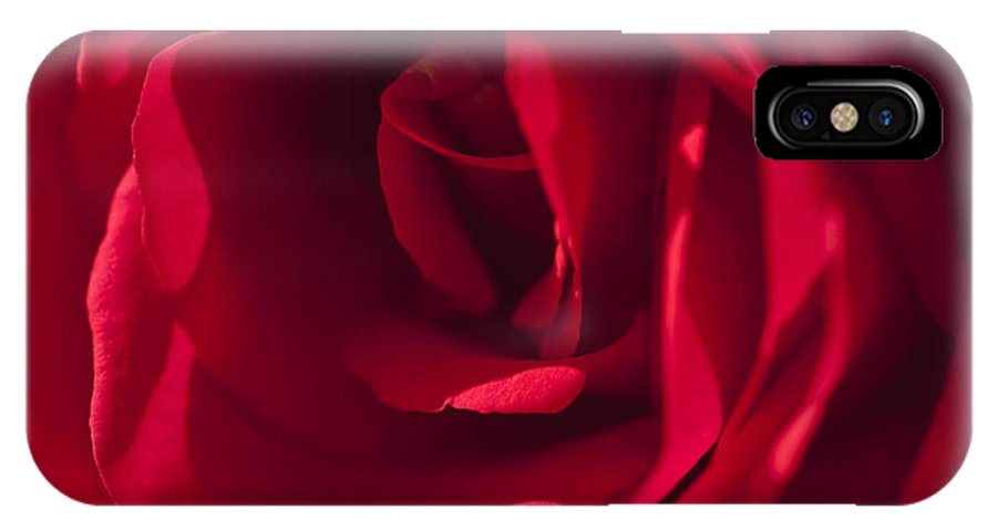 Red Rose IPhone X Case featuring the photograph Classic Rose by Sandra Bronstein