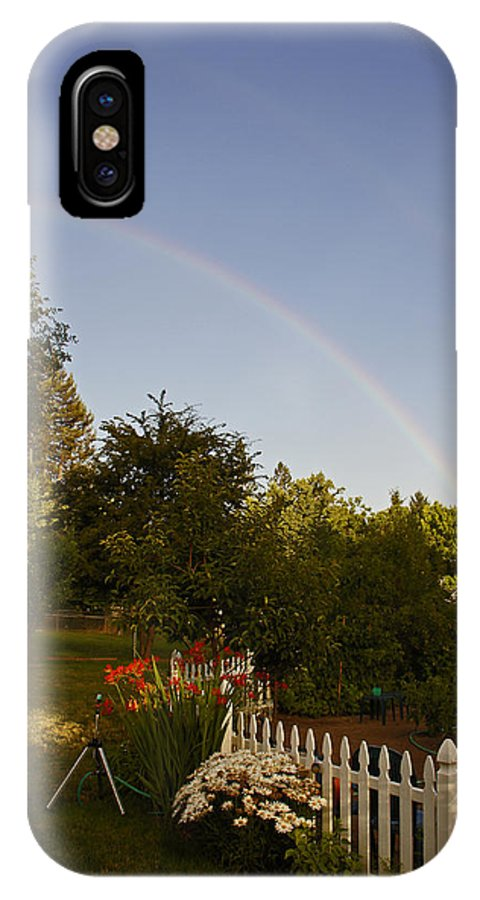 Clear IPhone X Case featuring the photograph Clear Sky Rainbow by Mick Anderson