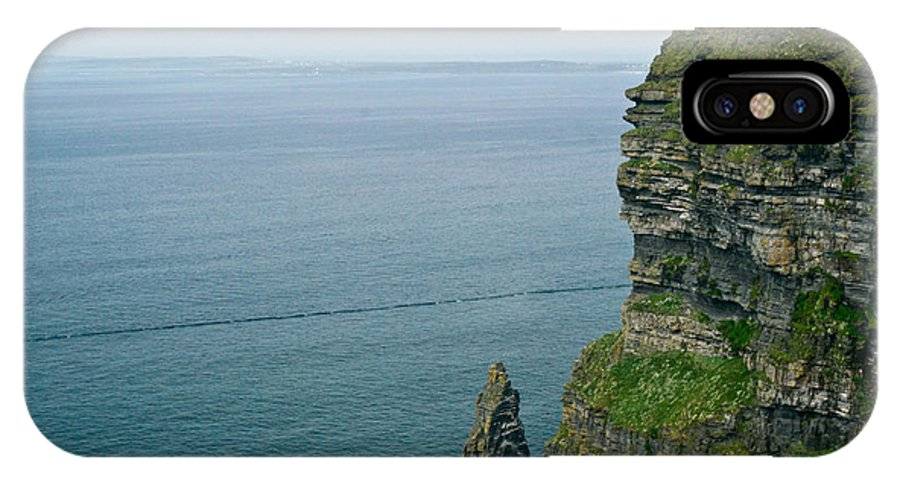 Cliffs IPhone X Case featuring the photograph cliffs of Moher 36 by Douglas Barnett