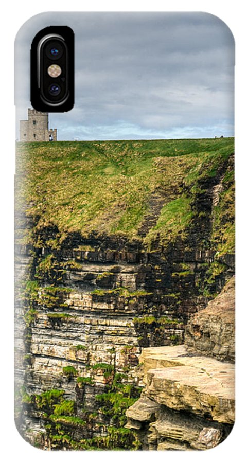 Cliffs IPhone X Case featuring the photograph cliffs of Moher 40 by Douglas Barnett