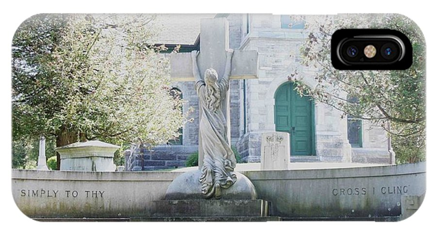 Religious IPhone X Case featuring the photograph Cling by Dennis Comins