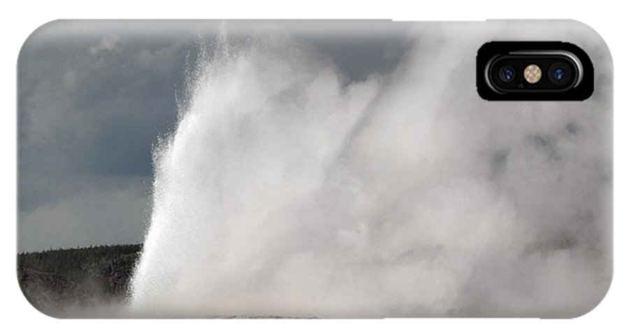 Old Faithful IPhone X Case featuring the photograph Close Up Of Old Faithful by Living Color Photography Lorraine Lynch