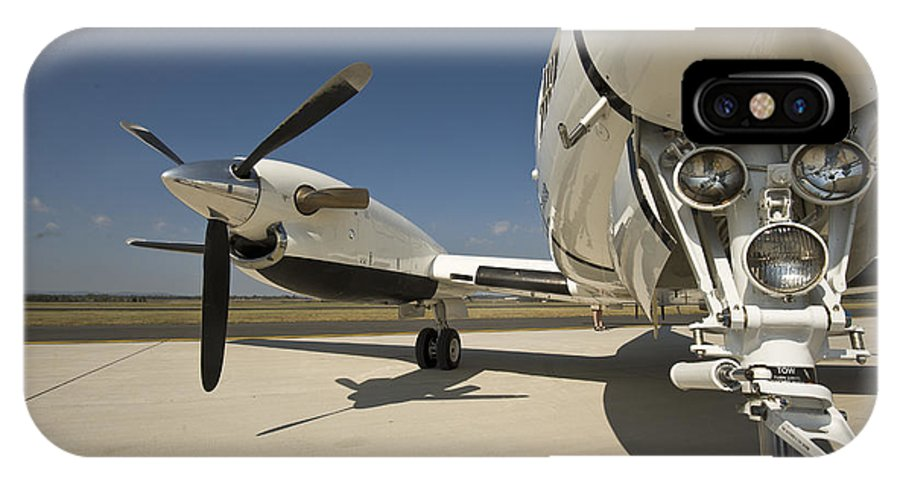 Color Image IPhone X Case featuring the photograph Close Up Of Turbo-prop Aircraft by Greg Dale