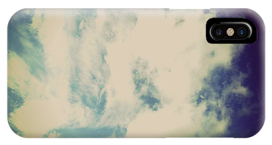 Clouds IPhone X Case featuring the photograph Clouds-5 by Paulette B Wright