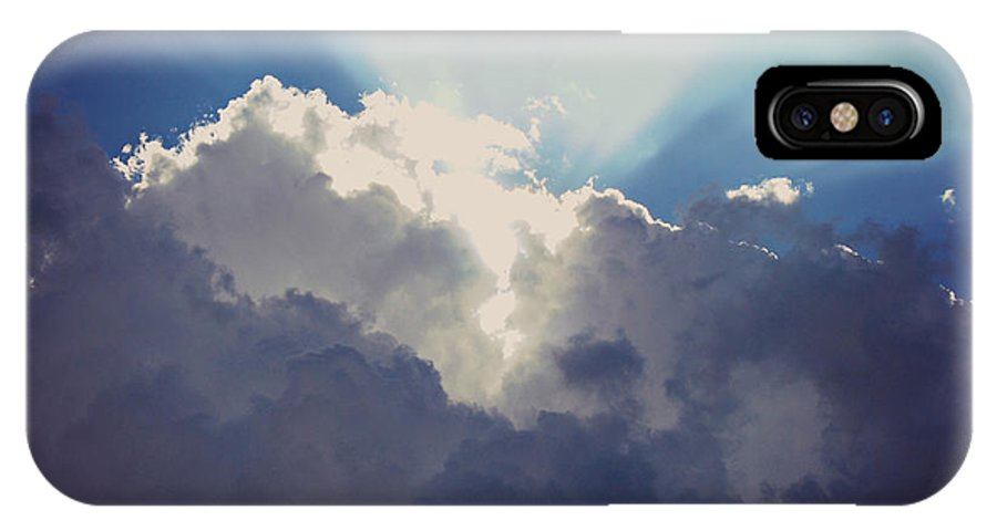 Drama Queen IPhone X Case featuring the photograph Clouds-6 by Paulette B Wright