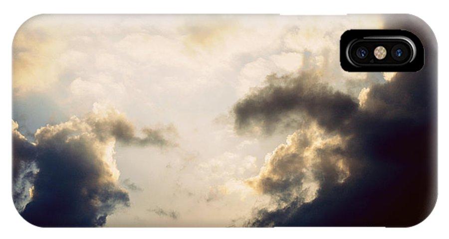 Clouds IPhone X Case featuring the photograph Clouds-9 by Paulette B Wright