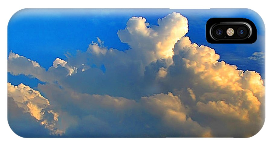 Morning IPhone X Case featuring the photograph A Heart On Top Of The Clouds by Debbie Portwood