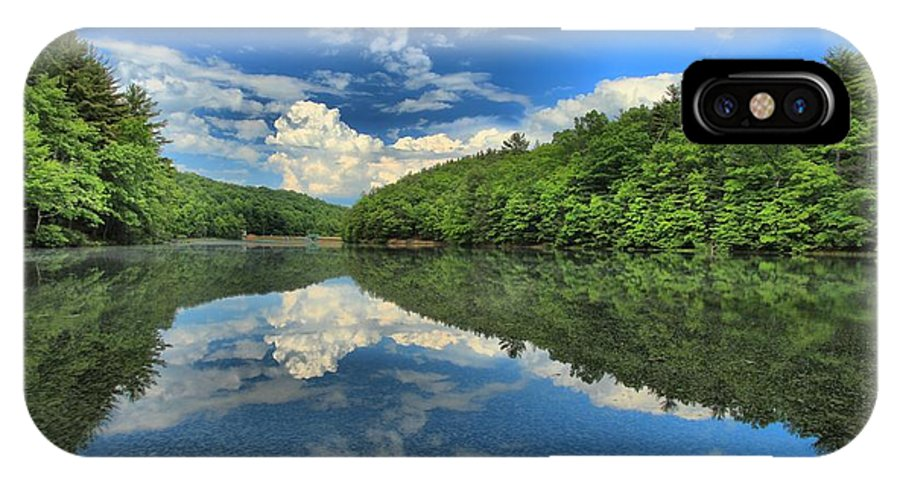 Long Branch Lake IPhone X Case featuring the photograph Clouds In The Lake by Adam Jewell