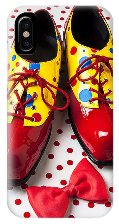 Clown IPhone X Case featuring the photograph Clown Shoes by Garry Gay