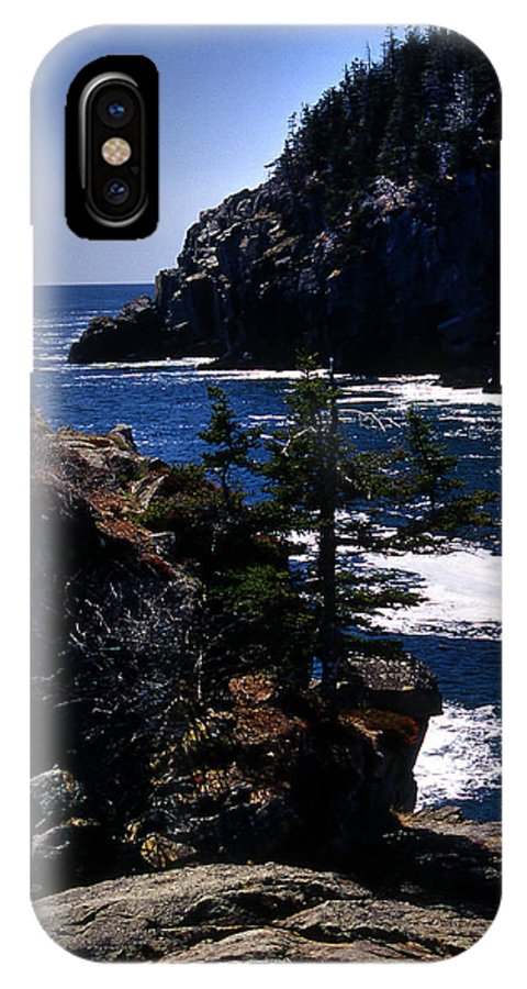 Me IPhone X Case featuring the photograph Coastal Maine by Skip Willits