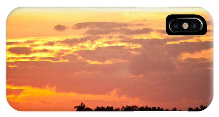 Sunset IPhone X Case featuring the photograph Coastal Sunset Boynton Beach Florida by Michelle Constantine