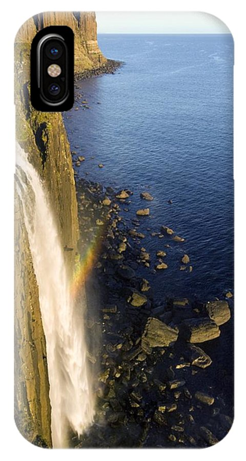 Kilt Rock IPhone X Case featuring the photograph Coastal Waterfall by Duncan Shaw